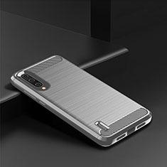 Custodia Silicone Cover Morbida Line C08 per Xiaomi Mi A3 Argento