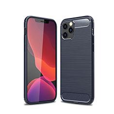 Custodia Silicone Cover Morbida Line per Apple iPhone 12 Max Blu