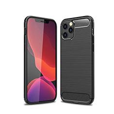 Custodia Silicone Cover Morbida Line per Apple iPhone 12 Max Nero