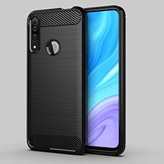 Custodia Silicone Cover Morbida Line per Huawei Enjoy 10 Plus Nero