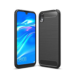 Custodia Silicone Cover Morbida Line per Huawei Enjoy 8S Nero
