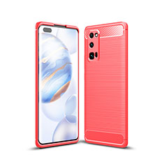 Custodia Silicone Cover Morbida Line per Huawei Honor 30 Pro Rosso