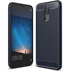 Custodia Silicone Cover Morbida Line per Huawei Mate 10 Lite Blu