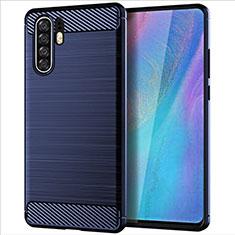 Custodia Silicone Cover Morbida Line per Huawei P30 Pro Blu