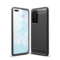 Custodia Silicone Cover Morbida Line per Huawei P40 Pro Nero
