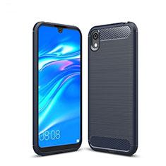 Custodia Silicone Cover Morbida Line per Huawei Y5 (2019) Blu