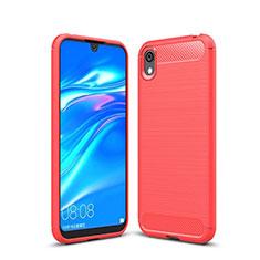 Custodia Silicone Cover Morbida Line per Huawei Y5 (2019) Rosso