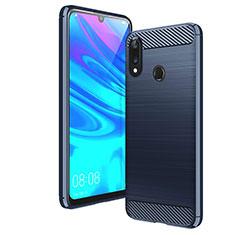Custodia Silicone Cover Morbida Line per Huawei Y7 (2019) Blu