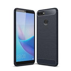 Custodia Silicone Cover Morbida Line per Huawei Y9 (2018) Blu