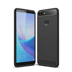 Custodia Silicone Cover Morbida Line per Huawei Y9 (2018) Nero