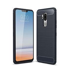 Custodia Silicone Cover Morbida Line per LG G7 Blu