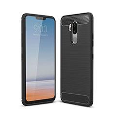 Custodia Silicone Cover Morbida Line per LG G7 Nero