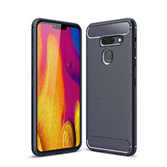 Custodia Silicone Cover Morbida Line per LG G8 ThinQ Blu