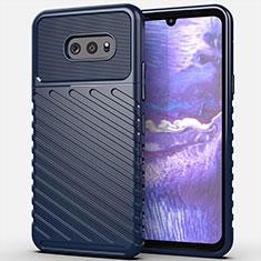 Custodia Silicone Cover Morbida Line per LG G8X ThinQ Blu