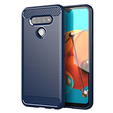 Custodia Silicone Cover Morbida Line per LG K51 Blu