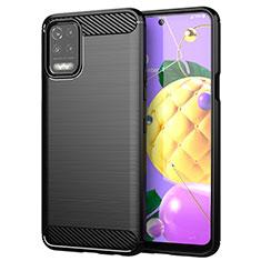 Custodia Silicone Cover Morbida Line per LG K52 Nero