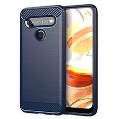 Custodia Silicone Cover Morbida Line per LG K61 Blu