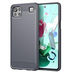 Custodia Silicone Cover Morbida Line per LG K92 5G Grigio