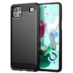 Custodia Silicone Cover Morbida Line per LG K92 5G Nero