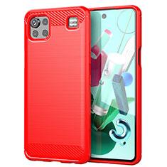Custodia Silicone Cover Morbida Line per LG K92 5G Rosso