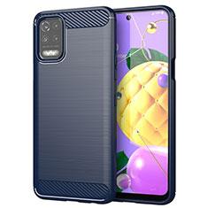 Custodia Silicone Cover Morbida Line per LG Q52 Blu