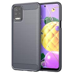 Custodia Silicone Cover Morbida Line per LG Q52 Grigio