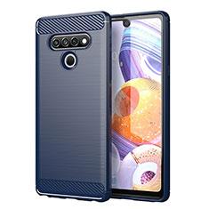 Custodia Silicone Cover Morbida Line per LG Stylo 6 Blu