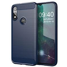 Custodia Silicone Cover Morbida Line per Motorola Moto E (2020) Blu