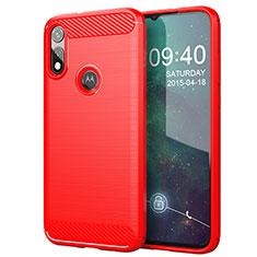 Custodia Silicone Cover Morbida Line per Motorola Moto E (2020) Rosso