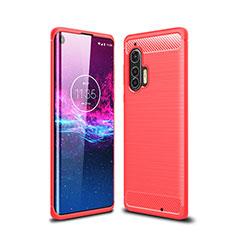 Custodia Silicone Cover Morbida Line per Motorola Moto Edge Plus Rosso