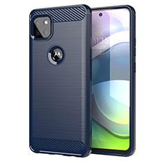 Custodia Silicone Cover Morbida Line per Motorola Moto G 5G Blu
