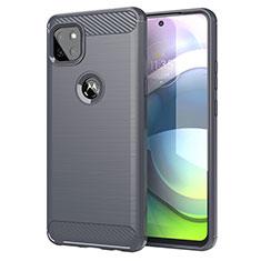 Custodia Silicone Cover Morbida Line per Motorola Moto G 5G Grigio