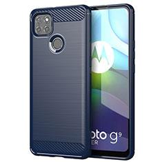 Custodia Silicone Cover Morbida Line per Motorola Moto G9 Power Blu