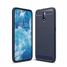 Custodia Silicone Cover Morbida Line per Nokia 2.3 Blu