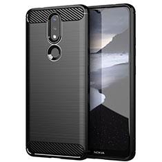 Custodia Silicone Cover Morbida Line per Nokia 2.4 Nero