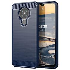 Custodia Silicone Cover Morbida Line per Nokia 5.3 Blu