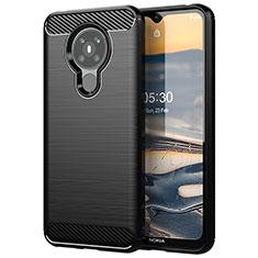 Custodia Silicone Cover Morbida Line per Nokia 5.3 Nero