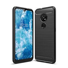 Custodia Silicone Cover Morbida Line per Nokia 6.2 Nero