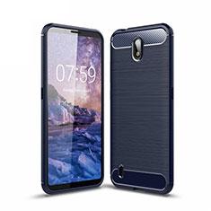 Custodia Silicone Cover Morbida Line per Nokia C1 Blu