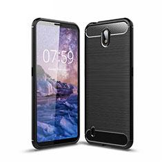 Custodia Silicone Cover Morbida Line per Nokia C1 Nero