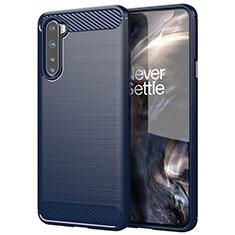 Custodia Silicone Cover Morbida Line per OnePlus Nord Blu