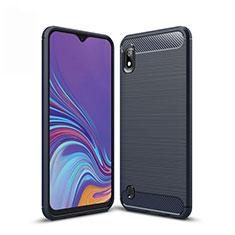 Custodia Silicone Cover Morbida Line per Samsung Galaxy A10 Blu