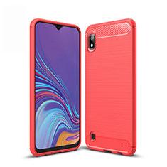 Custodia Silicone Cover Morbida Line per Samsung Galaxy A10 Rosso