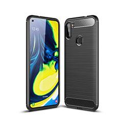 Custodia Silicone Cover Morbida Line per Samsung Galaxy A11 Nero