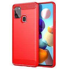 Custodia Silicone Cover Morbida Line per Samsung Galaxy A21s Rosso