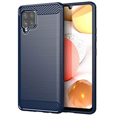 Custodia Silicone Cover Morbida Line per Samsung Galaxy A42 5G Blu