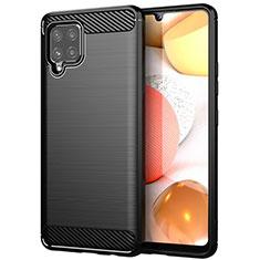 Custodia Silicone Cover Morbida Line per Samsung Galaxy A42 5G Nero