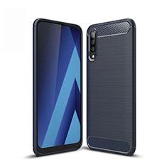 Custodia Silicone Cover Morbida Line per Samsung Galaxy A50 Blu