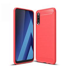 Custodia Silicone Cover Morbida Line per Samsung Galaxy A50 Rosso