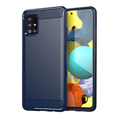Custodia Silicone Cover Morbida Line per Samsung Galaxy A51 4G Blu
